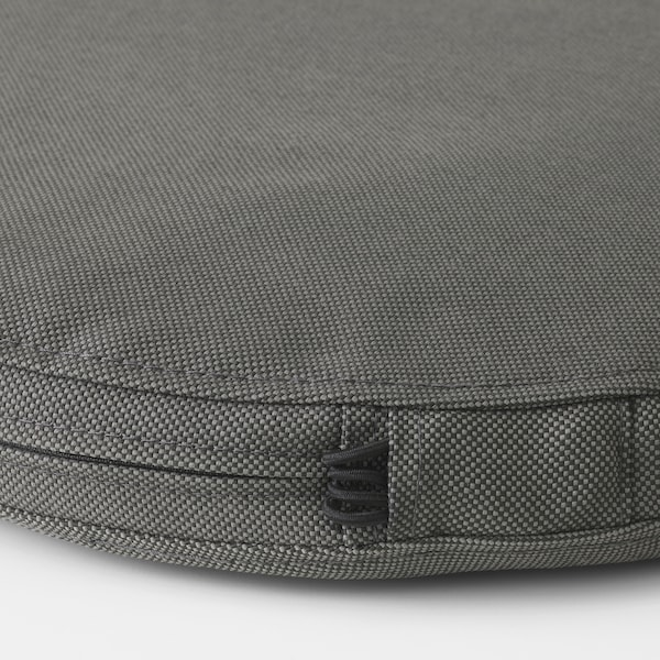 FRÖSÖN/DUVHOLMEN chair cushion, outdoor dark grey 35 cm 4 cm