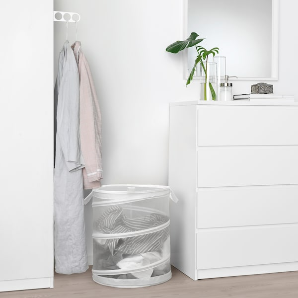FYLLEN Laundry basket, white, 79 l