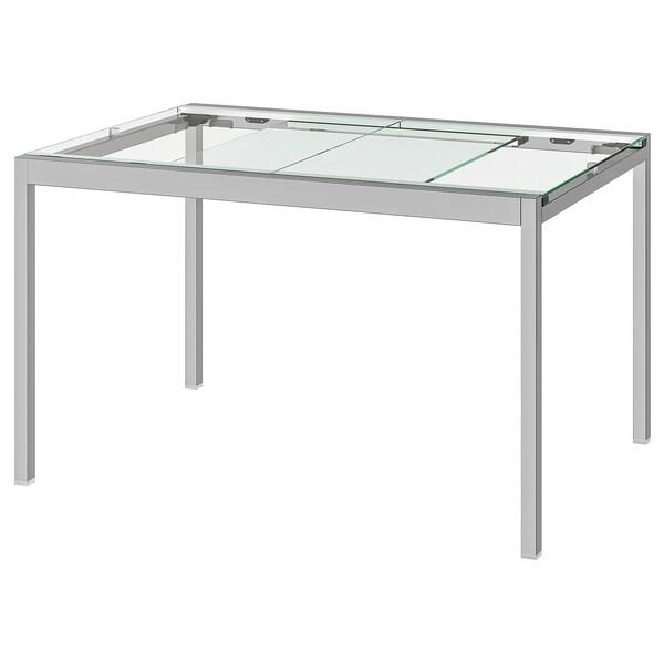 Extendable Table Glivarp Transparent Chrome Plated