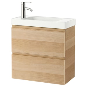 Colour: White stained oak effect/dalskär tap.