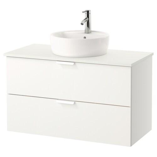 GODMORGON/TOLKEN wsh-stnd w countertop 45 wsh-basin white/white 102 cm 100 cm 49 cm 74 cm