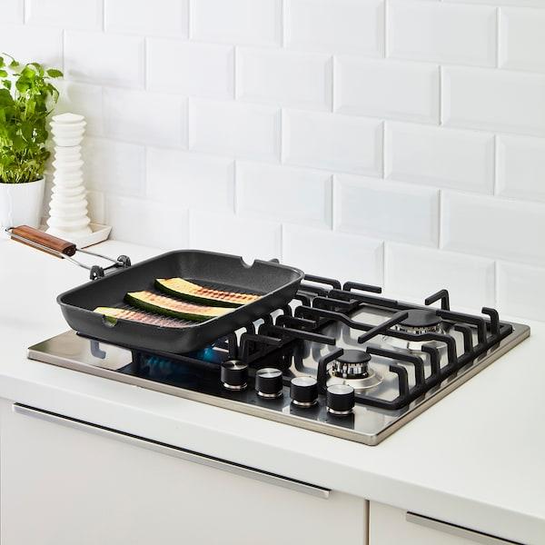 GRILLA Grill pan, black, 36x26 cm