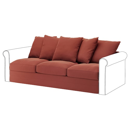 GRÖNLID 3-seat section Ljungen light red 104 cm 68 cm 211 cm 98 cm 7 cm 210 cm 60 cm 49 cm