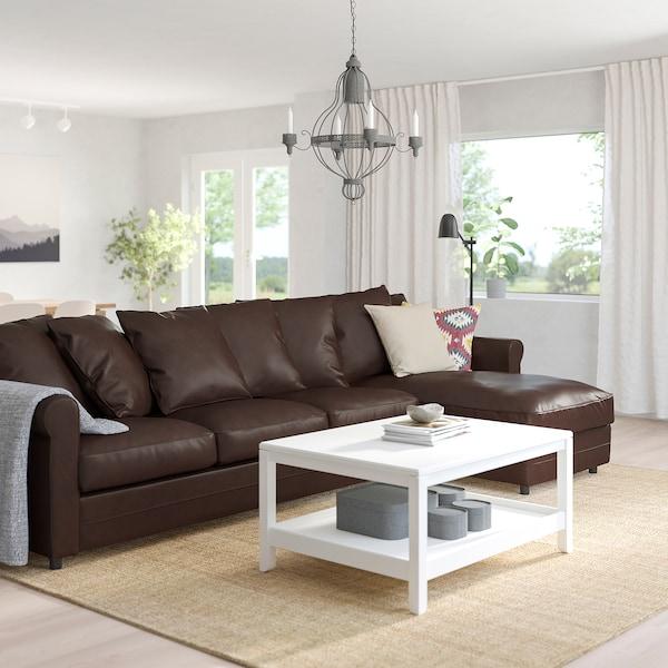 GRÖNLID 4-seat sofa with chaise longue/Kimstad dark brown 104 cm 68 cm 164 cm 328 cm 98 cm 126 cm 7 cm 18 cm 68 cm 292 cm 60 cm 49 cm