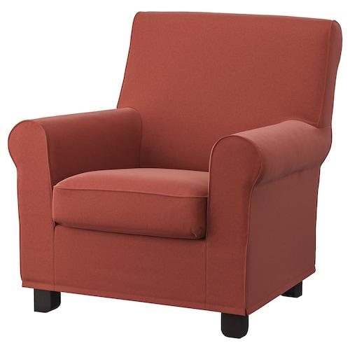 GRÖNLID armchair Ljungen light red 87 cm 84 cm 90 cm 10 cm 60 cm 45 cm 53 cm 45 cm