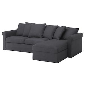 Cover: With chaise longue/sporda dark grey.