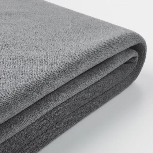 GRÖNLID cover for u-shaped sofa, 6-seat with open end/Ljungen medium grey