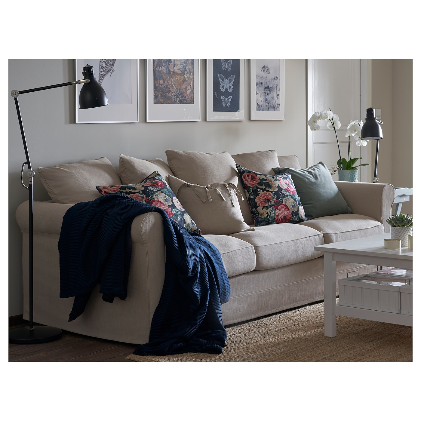 GRÖNLID 3 seat sofa Sporda natural