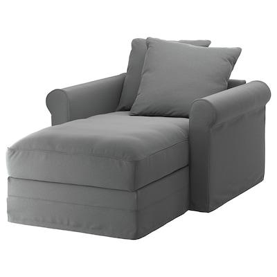 GRÖNLID Chaise longue, Ljungen medium grey
