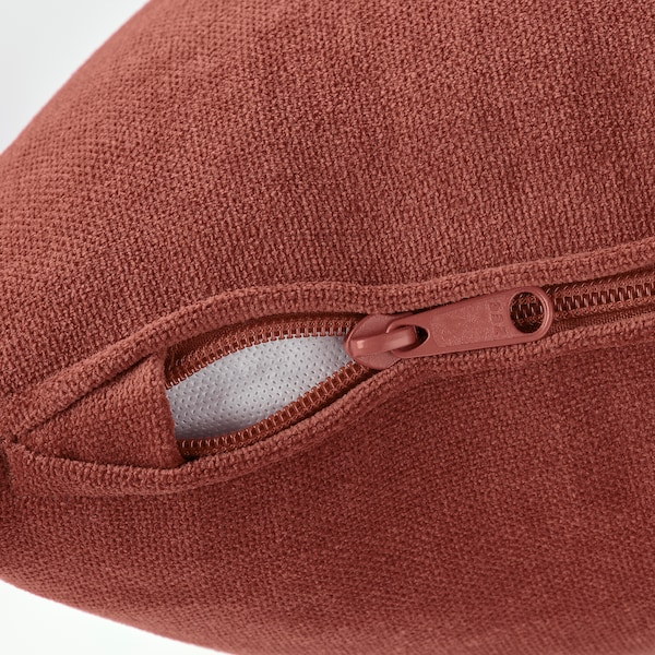 GRÖNLID Cover for 4-seat sofa, with chaise longue/Ljungen light red