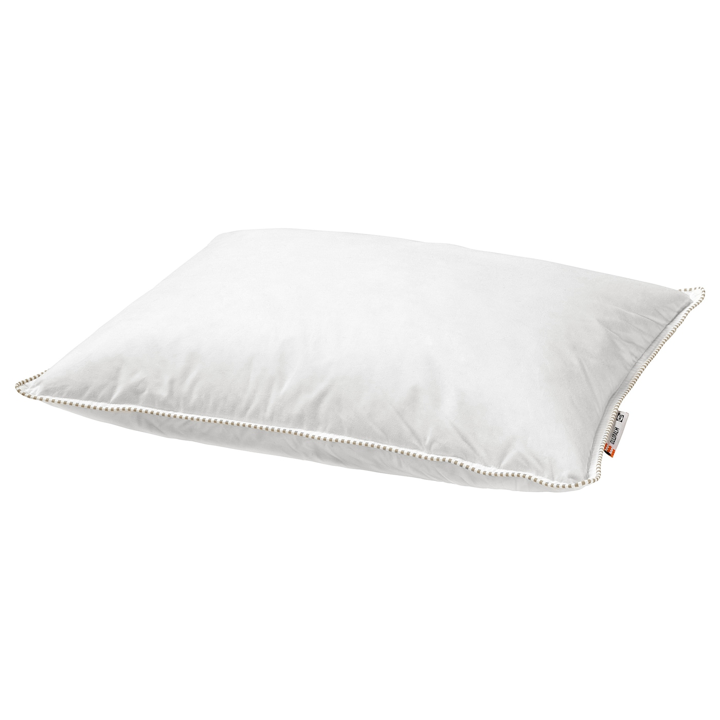 IKEA GULDPALM pillow, softer A soft pillow in soft cotton, filled with duck down and feathers.