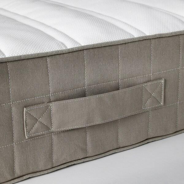 HAMARVIK sprung mattress firm/dark beige 190 cm 135 cm 21 cm