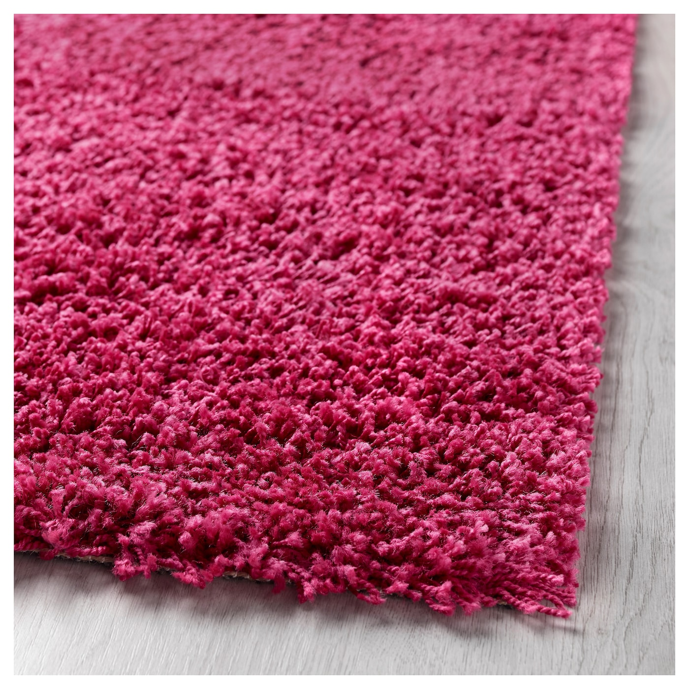 Hampen Rug High Pile Bright Pink 133 X 195 Cm Ikea