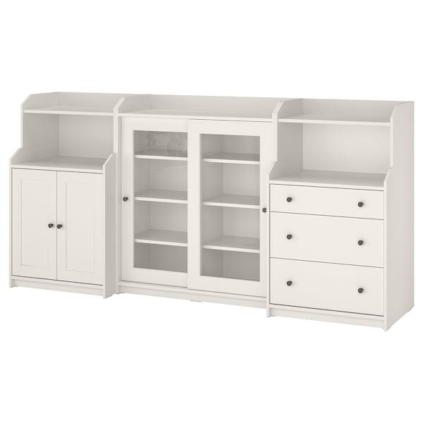 HAUGA Storage combination, white, 244x46x116 cm