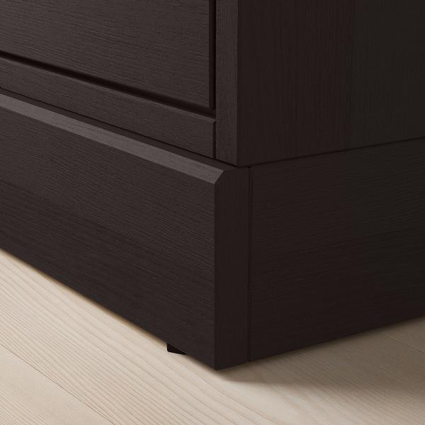 HAVSTA Cabinet with plinth, dark brown, 81x47x89 cm