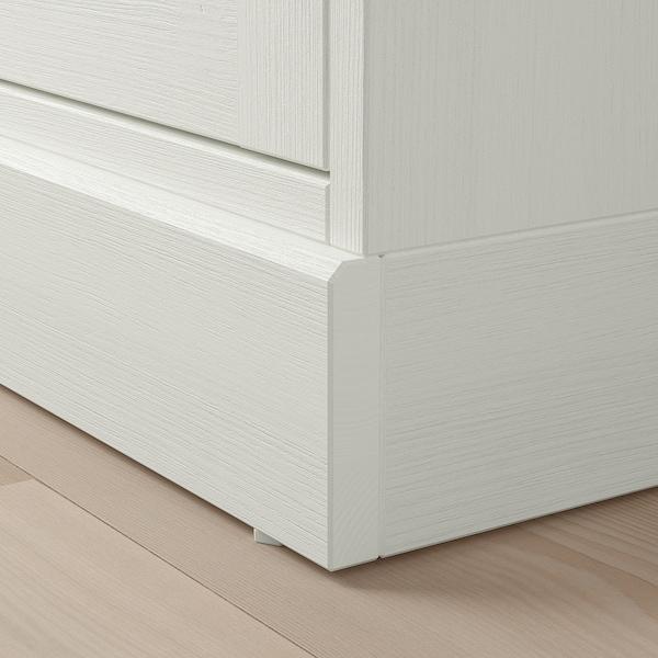 HAVSTA Cabinet with plinth, white, 81x37x134 cm