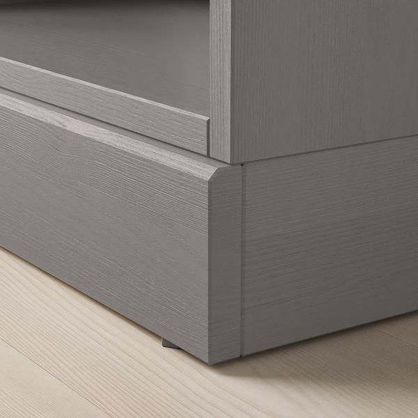 HAVSTA Shelving unit with plinth, grey, 61x37x212 cm