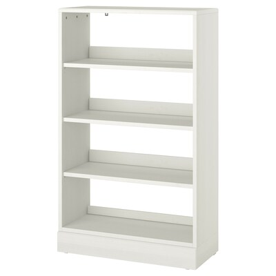 HAVSTA Shelving unit with plinth, white, 81x37x134 cm