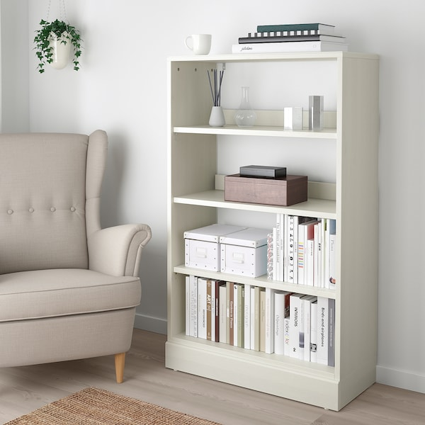 HAVSTA Shelving unit with plinth, white, 81x37x134 cm