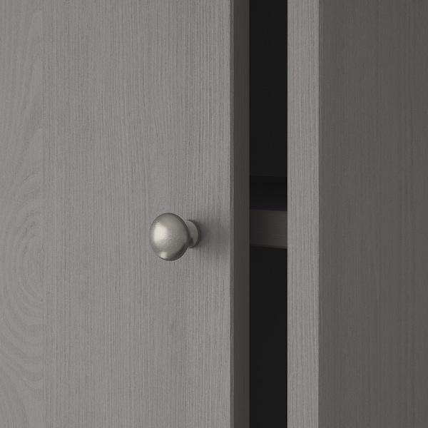 HAVSTA Storage comb w sliding glass doors, grey, 243x47x212 cm