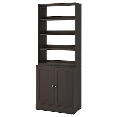 HAVSTA Storage combination, dark brown, 81x47x212 cm