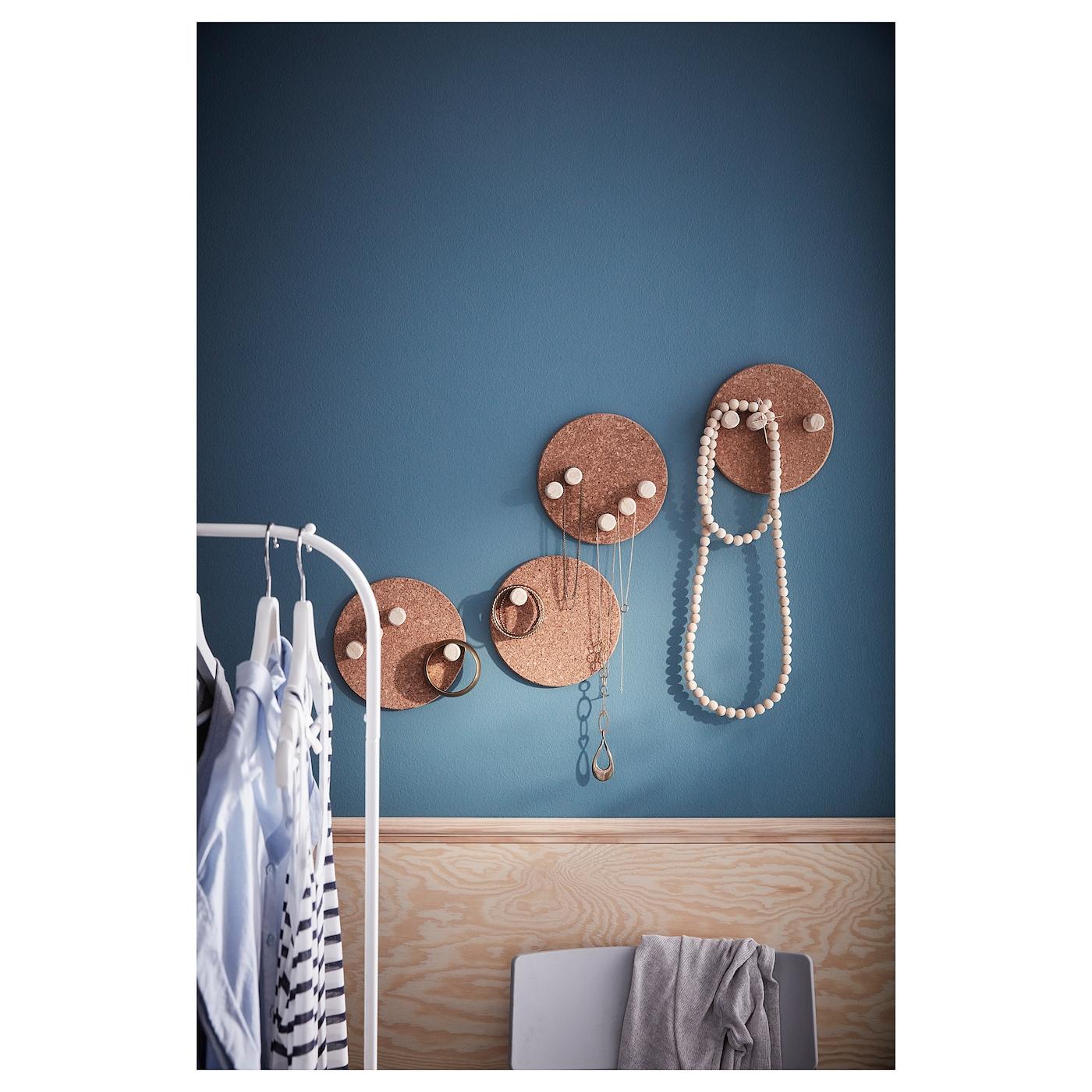 IKEA PACK OF 3 ROUND CORK HEAT RESISTANT POT//PAN STAND Diameter:19cm