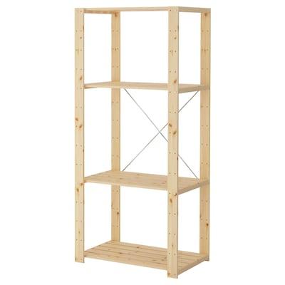 HEJNE 1 section, softwood, 78x50x171 cm