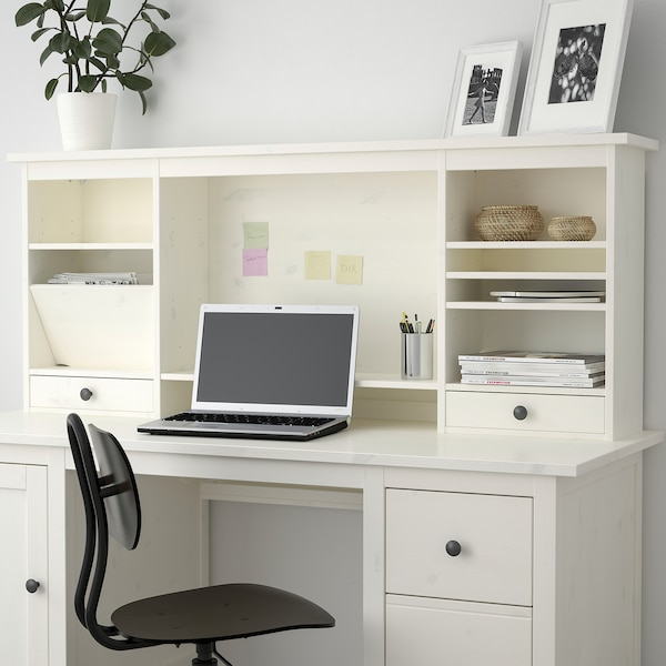 HEMNES Add-on unit desk, white stain, 152x63 cm