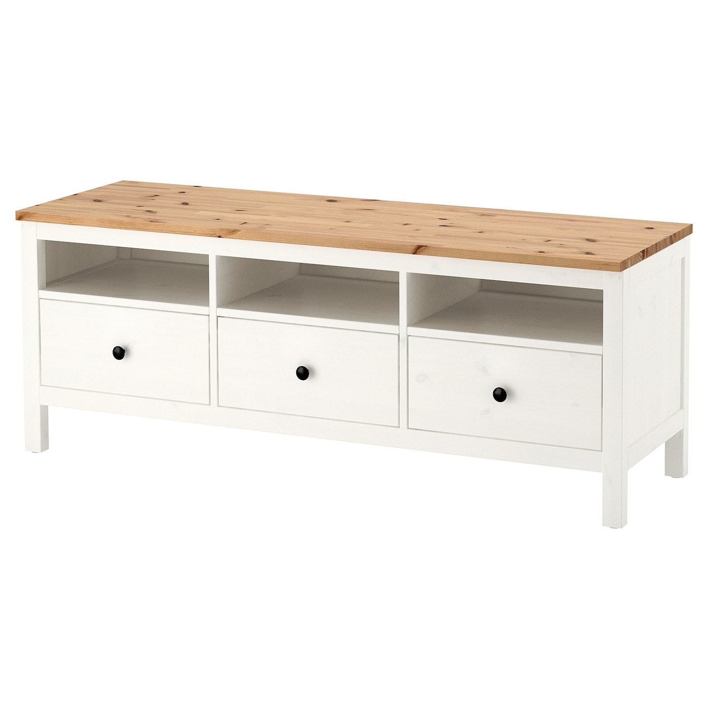 IKEA HEMNES TV bench Solid wood has a natural feel.