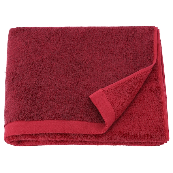 HIMLEÅN bath towel dark red/mélange 500 g/m² 140 cm 70 cm 0.98 m²