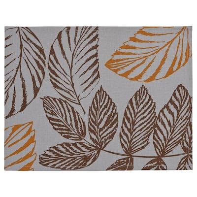 HÖSTKVÄLL Place mat, grey, 35x45 cm