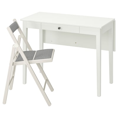 IDANÄS / TERJE Table and 1 chair, white/Knisa light grey