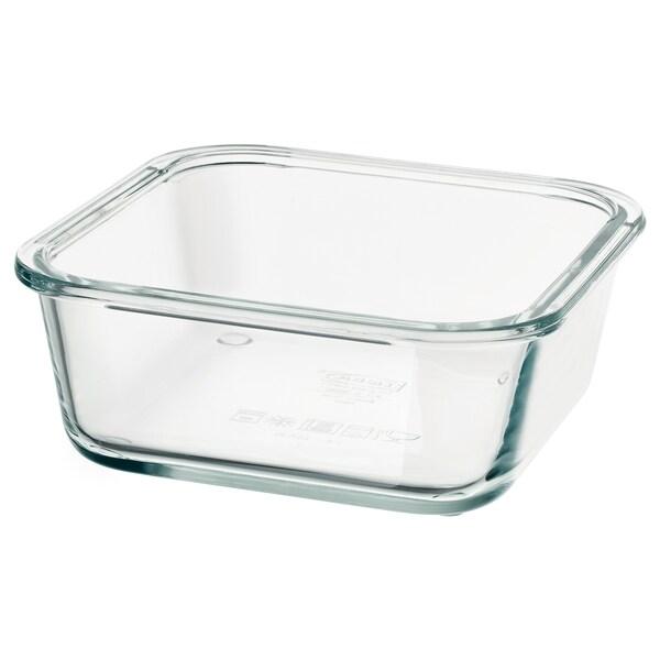 IKEA 365+ food container square/glass 15 cm 15 cm 6 cm 600 ml
