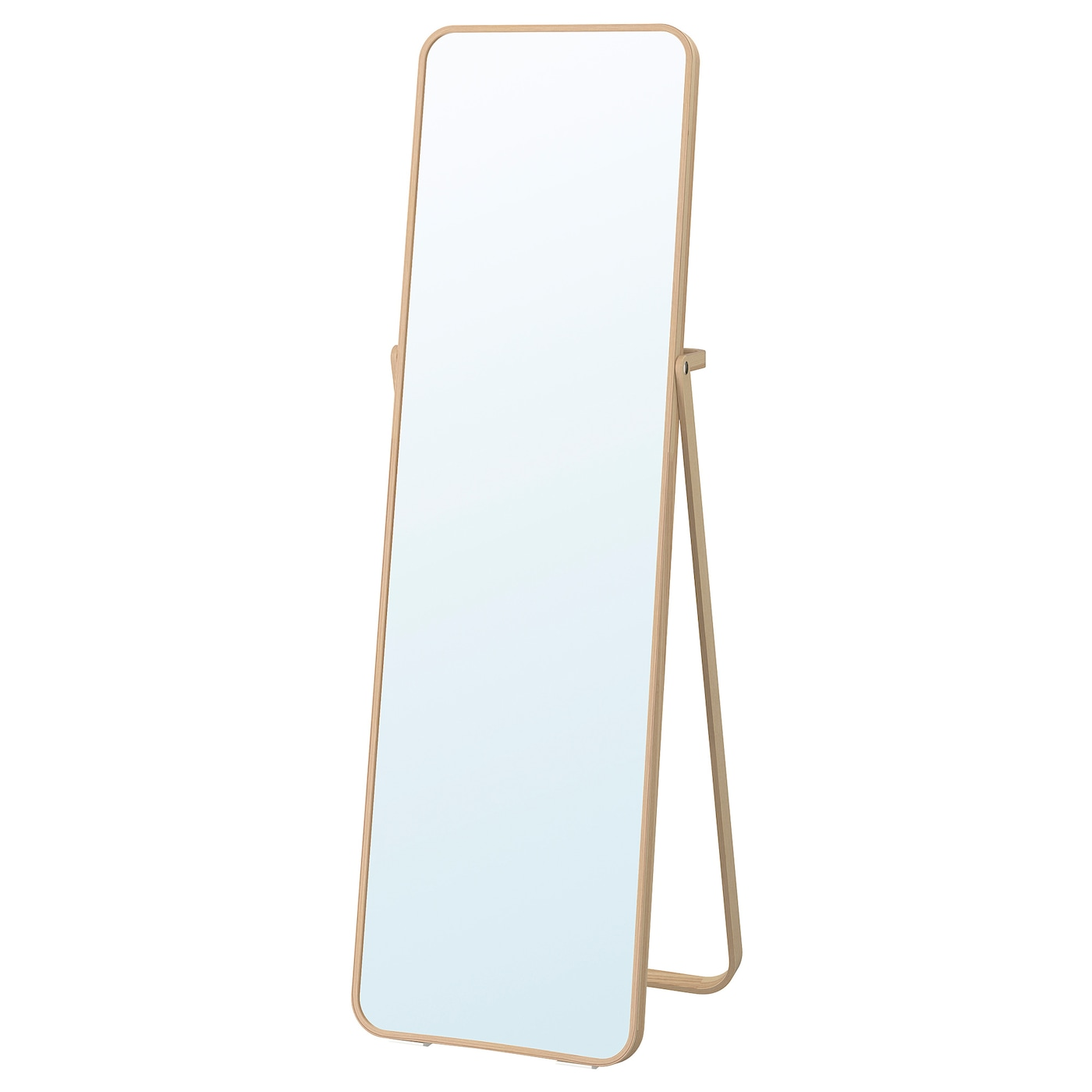 IKEA IKORNNES standing mirror Provided with safety film - reduces damage if the glass is broken.