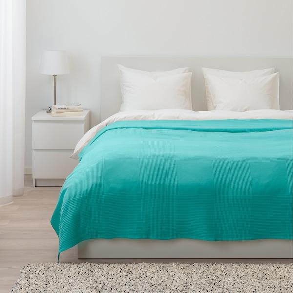 INDIRA bedspread turquoise 250 cm 230 cm