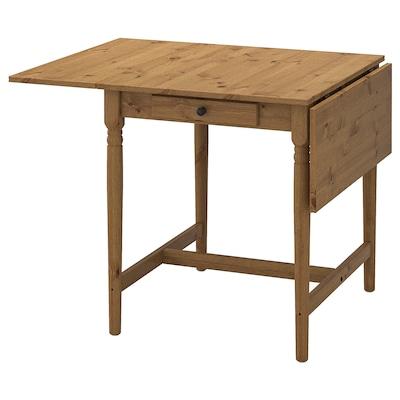 INGATORP Drop-leaf table, antique stain, 65/123x78 cm