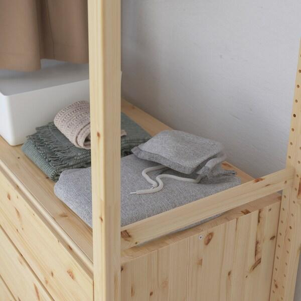 IVAR Shelving unit w shelves/rails/chest, 174x50x179 cm