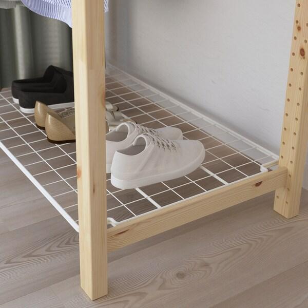 IVAR Shelving unit with clothes rail, 174x50x179 cm
