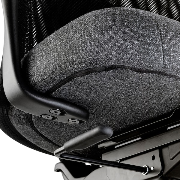 JÄRVFJÄLLET office chair with armrests Gunnared dark grey/black 110 kg 68 cm 68 cm 140 cm 52 cm 46 cm 45 cm 56 cm