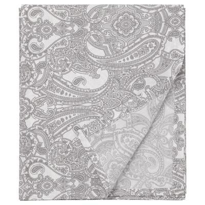 JÄTTEVALLMO Sheet, white/grey, 240x260 cm
