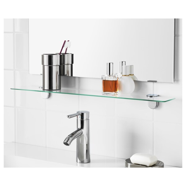 KALKGRUND glass shelf 62.4 cm 11.2 cm 5 cm 5 kg