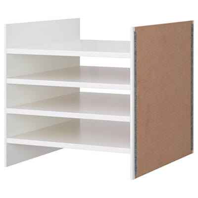 KALLAX Insert with 4 shelves, white, 33x33 cm