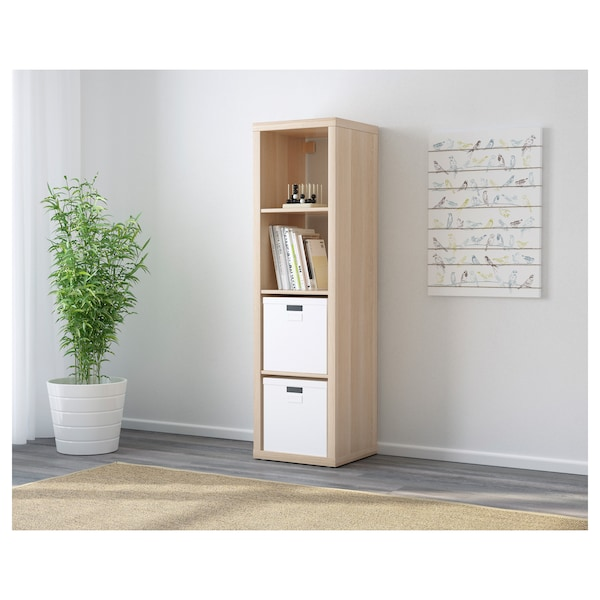 KALLAX shelving unit white stained oak effect 42 cm 39 cm 147 cm 13 kg 30 kg