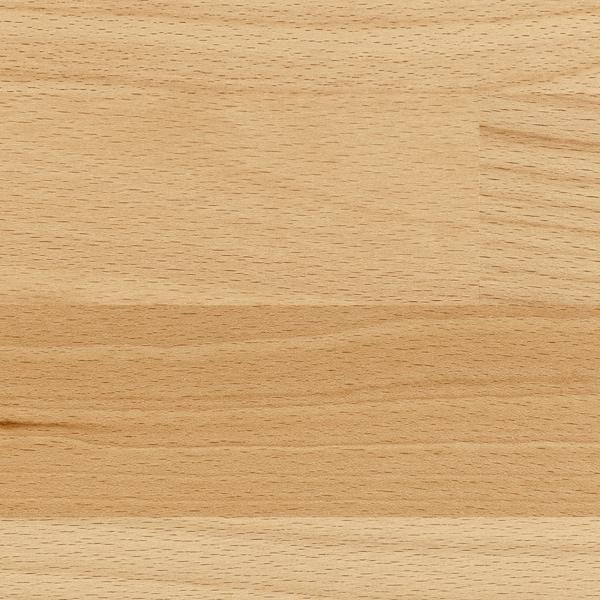 KARLBY custom made worktop beech/veneer 3 mm 100 cm 10 cm 400 cm 63.6 cm 125 cm 3.8 cm