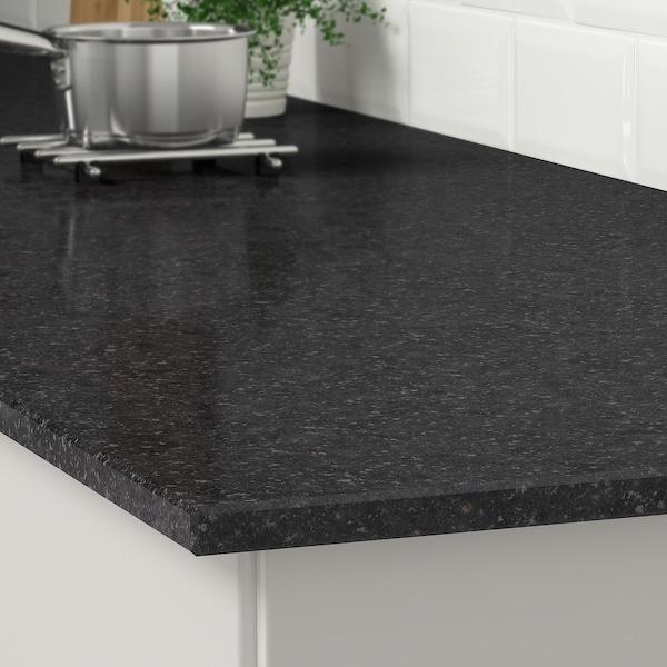 KASKER Custom made worktop, anthracite mineral effect/quartz, 1 m²x2.0 cm