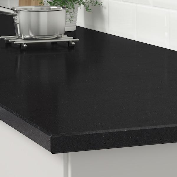 KASKER Custom made worktop, black stone effect/quartz, 1 m²x3.0 cm