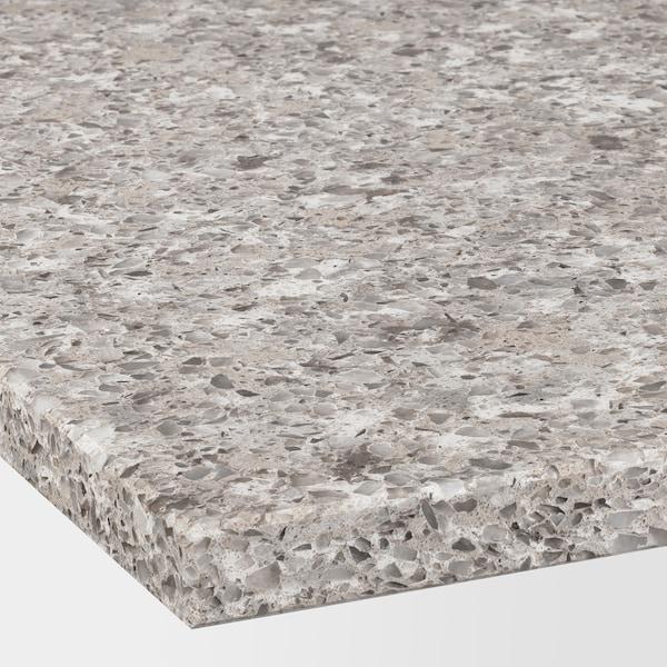 KASKER Custom made worktop, grey/brown mineral effect/quartz, 1 m²x2.0 cm