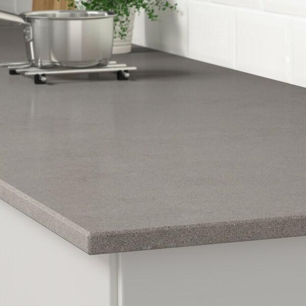 KASKER Custom made worktop, grey stone effect/quartz, 1 m²x2.0 cm