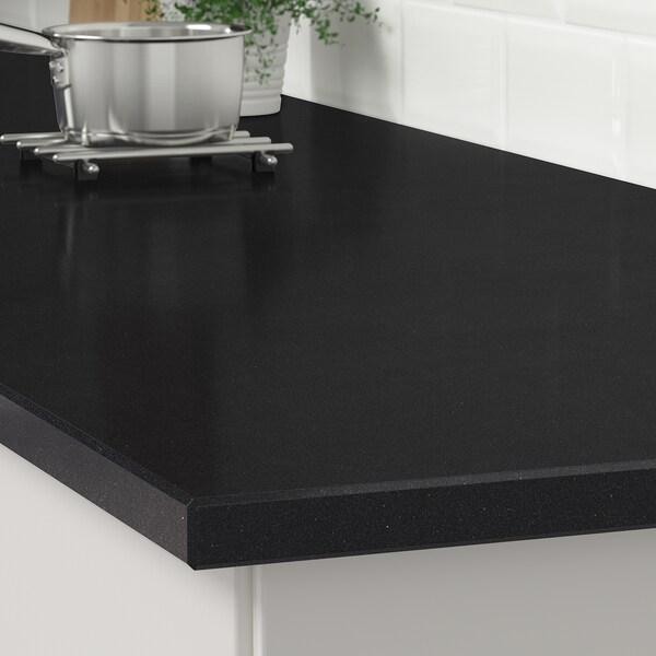 KASKER custom made worktop black stone effect/quartz 100 cm 20 cm 295 cm 10.0 cm 135.0 cm 3.0 cm 1 m²