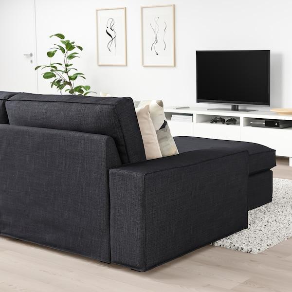 KIVIK 3 seat sofa with chaise longueHillared anthracite